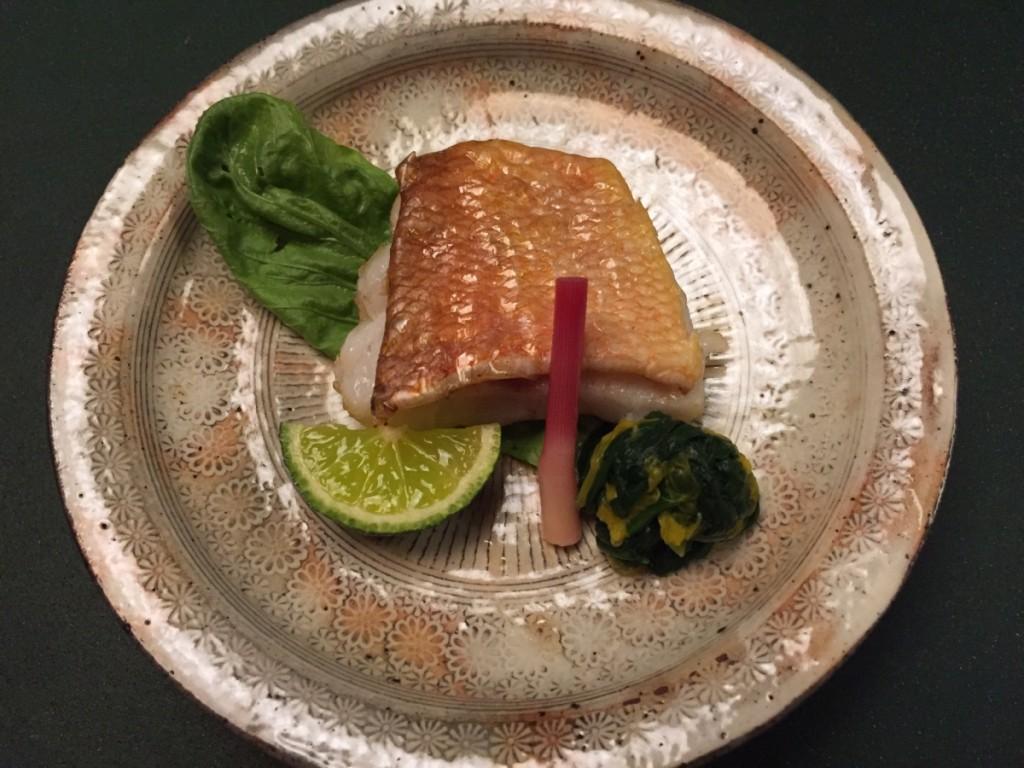 Kyoaji - grilled amadai