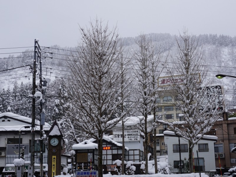 In front of Echigo Yuzawa station