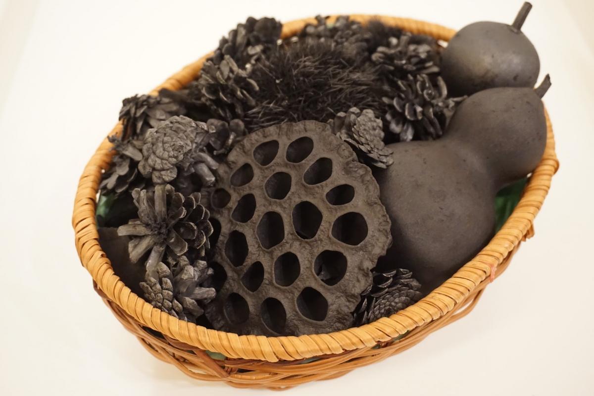 charcoaled plants