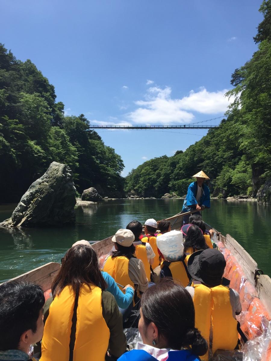 Kinugawa boat ride.