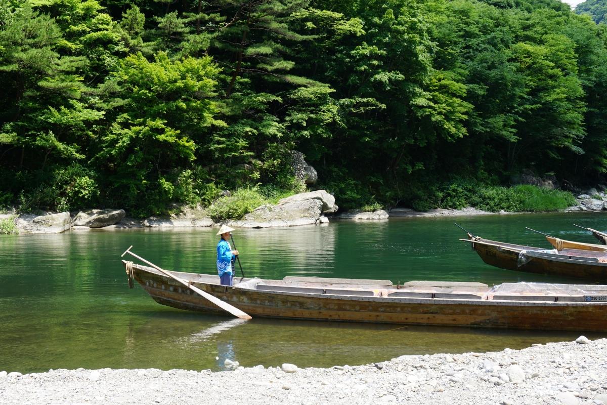 Kinugawa onsen boat ride