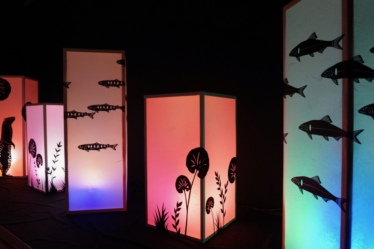 paper cutout lanterns